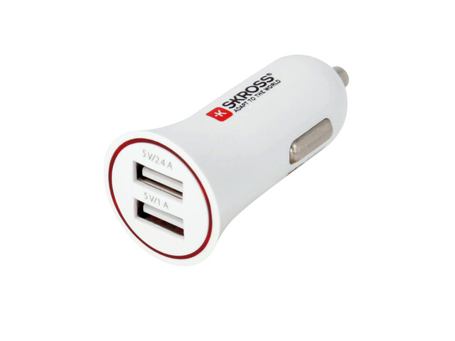 SKROSS USB Car Charger - Chargeur - blanc